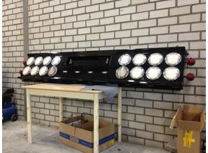 VTS Bumper 16x ronde gaten voor LEDl ampen