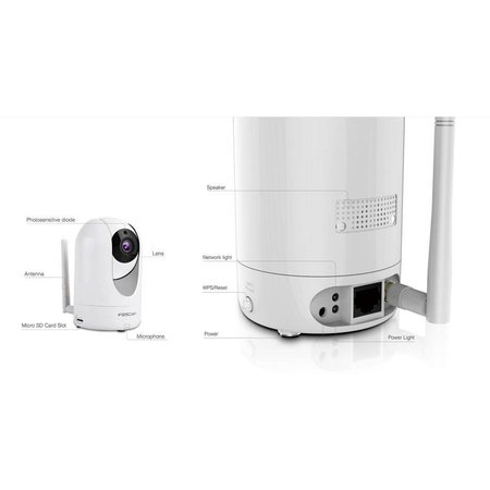 Foscam Foscam R4 IP-beveiligingscamera Binnen Dome Bureau 2560 x 1440 Pixels