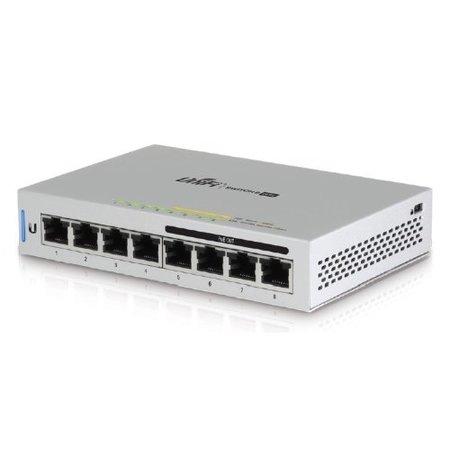 Ubiquiti Ubiquiti Networks UniFi Switch 8 Managed Gigabit Ethernet (10/100/1000) Grijs Power over Ethernet (PoE)