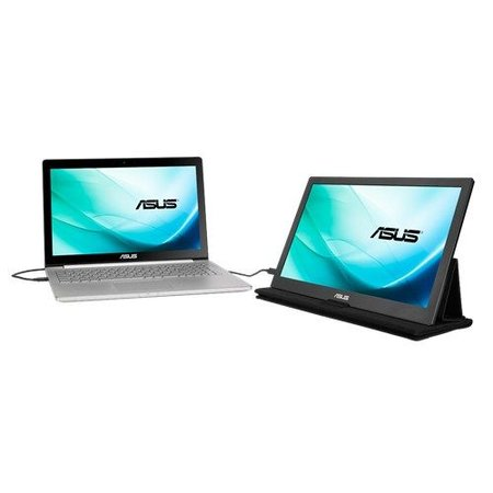 "Asus ASUS MB169C+ 39,6 cm (15.6"") 1920 x 1080 Pixels Full HD LED Zwart, Zilver"