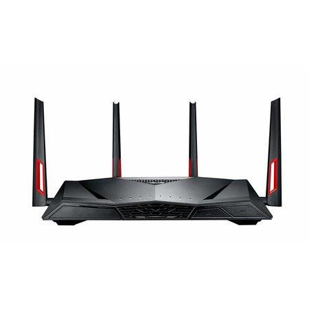 Asus ASUS DSL-AC88U draadloze router Dual-band (2.4 GHz / 5 GHz) Gigabit Ethernet Zwart, Rood