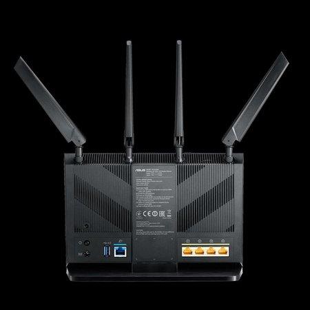 Asus ASUS 4G-AC68U draadloze router Dual-band (2.4 GHz / 5 GHz) Gigabit Ethernet 3G Zwart