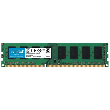 Crucial Crucial 8GB PC3-12800 8GB DDR3 1600MHz geheugenmodule