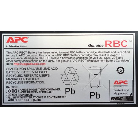 APC APC Batterij Vervangings Cartridge APCRBC133