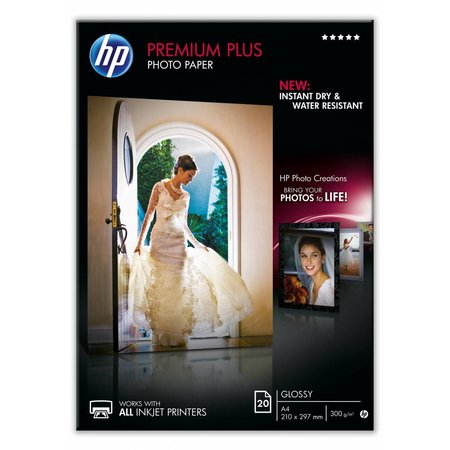 Hewlett & Packard INC. HP Premium Plus glanzend fotopapier, 20 vel, A4/210 x 297 mm