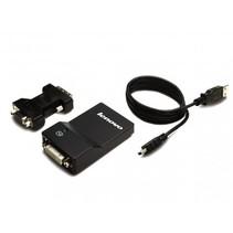 Lenovo USB 3.0 - DVI/VGA USB A DVI/VGA Zwart