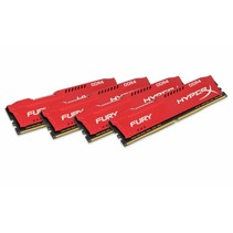 DDR4 64GB PC 2666 CL16 Kingston KIT (4x16GB) HyperX Fury Red retail