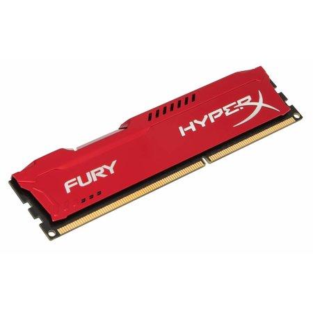 Kingston HyperX FURY Red 8GB 1600MHz DDR3 geheugenmodule 1 x 8 GB