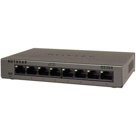 Netgear Netgear GS308 Onbeheerde netwerkswitch Gigabit Ethernet (10/100/1000) Grijs