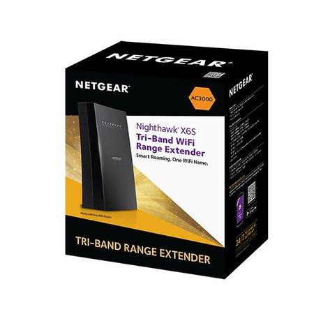 Netgear Netgear X6S Tri-band (2.4 GHz / 5 GHz / 5 GHz) Gigabit Ethernet Zwart draadloze router