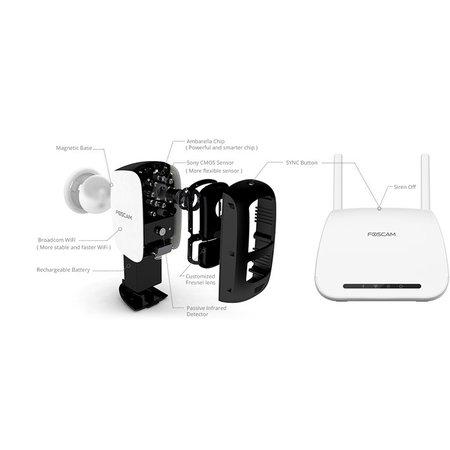 Foscam Foscam E1 1080P Full HD Draadloze Cloud Camera