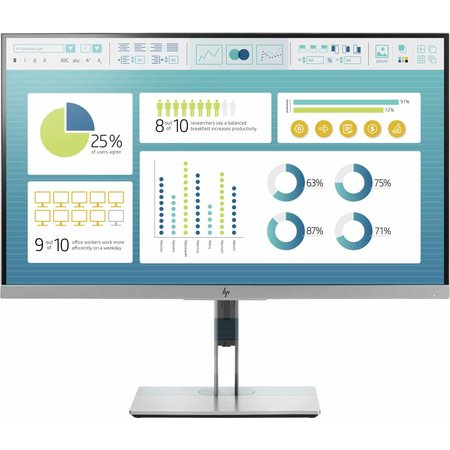"Hewlett & Packard INC. HP EliteDisplay E273 27"" Full HD LED Zwart, Zilver computer monitor"