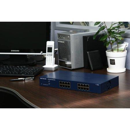 Netgear Netgear ProSAFE Unmanaged Switch - JGS516 - 16 Gigabit Ethernet poorten 10/100/1000 Mbps