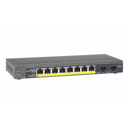 Netgear Netgear ProSAFE Smart Switch - GS110TP - 8 Power over Ethernet (PoE) poorten met 2 Gigabit Fiber SFP