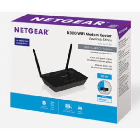 Netgear Netgear D1500 draadloze router Fast Ethernet