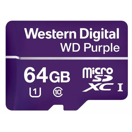Western Digital Western Digital Purple flashgeheugen 64 GB MicroSDXC Klasse 10