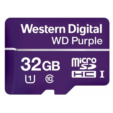 Western Digital Western Digital Purple flashgeheugen 32 GB MicroSDHC Klasse 10