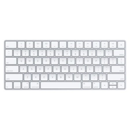 Apple Apple MLA22LB/A toetsenbord Bluetooth QWERTY Amerikaans Engels Zilver, Wit