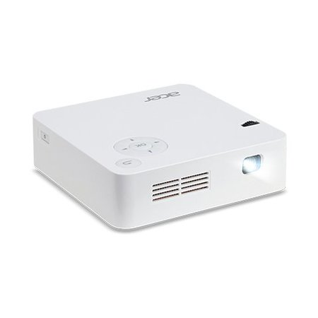 Acer Acer C202i beamer/projector 300 ANSI lumens DLP WVGA (854x480) Draagbare projector Wit