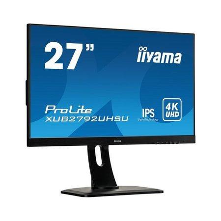 "Iiyama iiyama ProLite XUB2792UHSU-B1 LED display 68,6 cm (27"") 3840 x 2160 Pixels 4K Ultra HD Zwart"