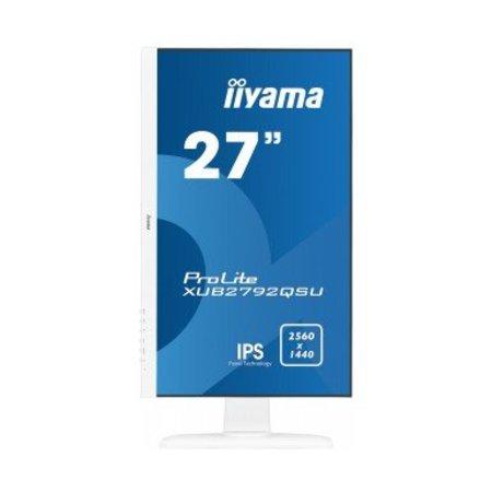 "Iiyama iiyama ProLite XUB2792QSU-W1 LED display 68,6 cm (27"") Wide Quad HD Flat Mat Wit"