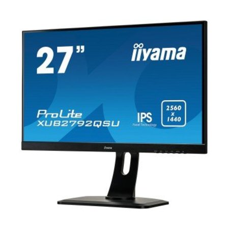 "Iiyama iiyama ProLite XUB2792QSU-B1 LED display 68,6 cm (27"") Wide Quad HD Flat Mat Zwart"