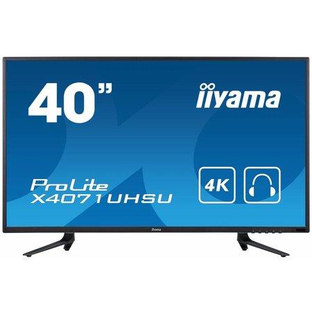 "Iiyama iiyama ProLite X4071UHSU-B1 LED display 100,3 cm (39.5"") 4K Ultra HD Flat Mat Zwart"