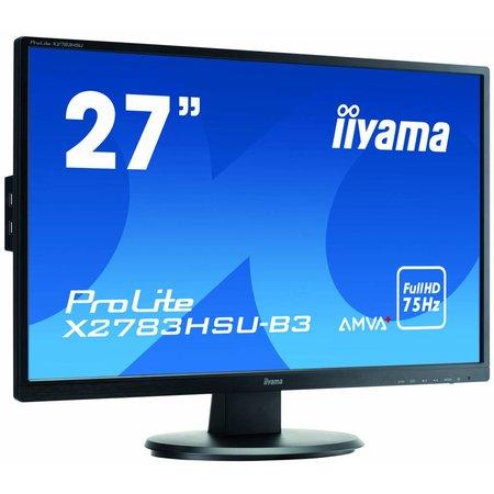 "Iiyama iiyama ProLite X2783HSU-B3 computer monitor 68,6 cm (27"") Full HD LED Flat Mat Zwart"