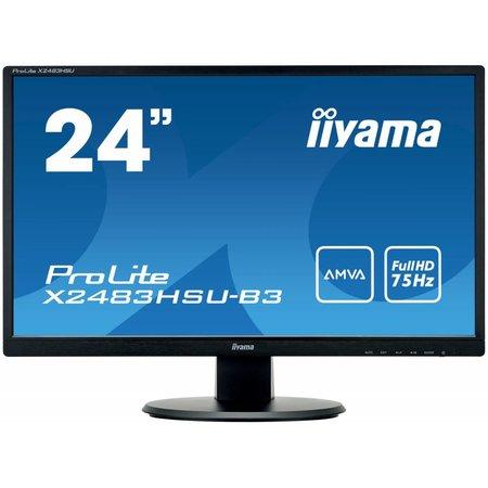 "Iiyama iiyama ProLite X2483HSU-B3 LED display 60,5 cm (23.8"") Full HD Flat Mat Zwart"