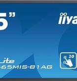 "Iiyama iiyama ProLite TH5565MIS-B1AG 139,7 cm (55"") LED Full HD Touchscreen Digitale signage flatscreen Zwart"