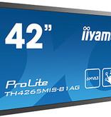 "Iiyama iiyama ProLite TH4265MIS-B1AG touch screen-monitor 106,7 cm (42"") 1920 x 1080 Pixels Zwart Multi-touch"