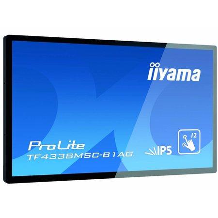 """Iiyama iiyama TF4338MSC-B1AG beeldkrant 108 cm (42.5"""") LED Full HD Interactive flat panel Zwart"""