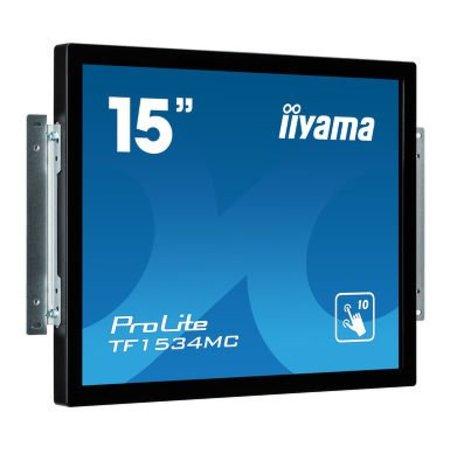 """Iiyama iiyama ProLite TF1534MC-B5X touch screen-monitor 38,1 cm (15"""") 1024 x 768 Pixels Zwart Multi-touch"""