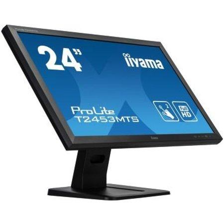 "Iiyama iiyama ProLite T2453MTS-B1 touch screen-monitor 59,9 cm (23.6"") 1920 x 1080 Pixels Zwart Dual-touch Tafelblad"