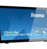 "Iiyama iiyama ProLite T2435MSC-B2 touch screen-monitor 59,9 cm (23.6"") 1920 x 1080 Pixels Zwart Multi-touch"