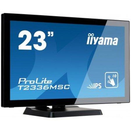 "Iiyama iiyama ProLite T2336MSC-B2 touch screen-monitor 58,4 cm (23"") 1920 x 1080 Pixels Zwart Multi-touch"