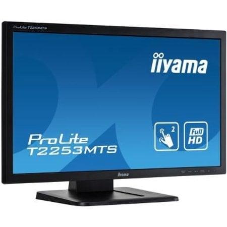 "Iiyama iiyama ProLite T2253MTS-B1 touch screen-monitor 54,6 cm (21.5"") 1920 x 1080 Pixels Zwart Dual-touch Tafelblad"