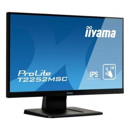 "Iiyama iiyama ProLite T2252MSC-B1 touch screen-monitor 54,6 cm (21.5"") 1920 x 1080 Pixels Zwart Multi-touch"