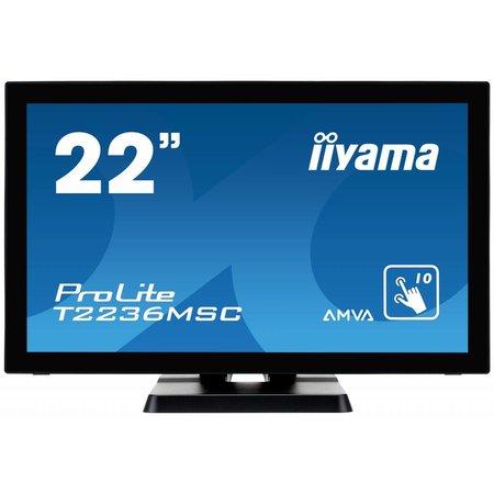 "Iiyama iiyama ProLite T2236MSC-B2 touch screen-monitor 54,6 cm (21.5"") 1920 x 1080 Pixels Multi-touch"