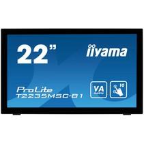 "iiyama ProLite T2235MSC touch screen-monitor 54,6 cm (21.5"") 1920 x 1080 Pixels Zwart Multi-touch Tafelblad"