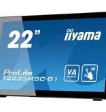 "Iiyama iiyama ProLite T2235MSC touch screen-monitor 54,6 cm (21.5"") 1920 x 1080 Pixels Zwart Multi-touch Tafelblad"