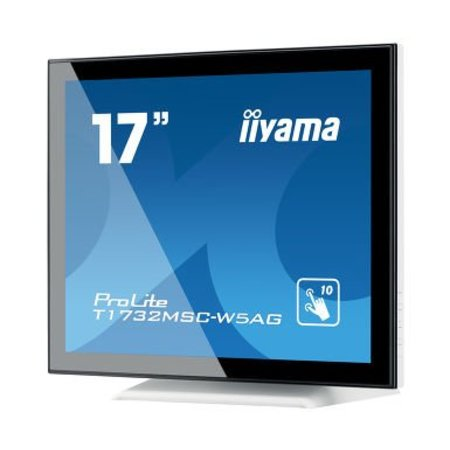 "Iiyama iiyama ProLite T1732MSC-W5AG touch screen-monitor 43,2 cm (17"") 1280 x 1024 Pixels Wit Multi-touch"