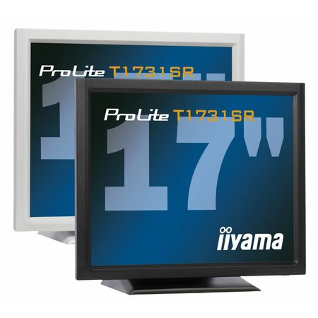 "Iiyama iiyama ProLite T1731SR-1 touch screen-monitor 43,2 cm (17"") 1280 x 1024 Pixels Zwart Tafelblad"