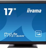 "Iiyama iiyama ProLite T1731SAW-B1 touch screen-monitor 43,2 cm (17"") 1280 x 1024 Pixels Zwart Single-touch Tafelblad"
