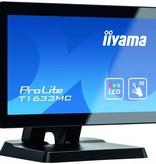 "Iiyama iiyama ProLite T1633MC-B1 touch screen-monitor 39,6 cm (15.6"") 1366 x 768 Pixels Zwart Multi-touch Multi-gebruiker"