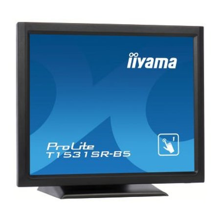 "Iiyama iiyama ProLite T1531SR-B5 touch screen-monitor 38,1 cm (15"") 1024 x 768 Pixels Zwart"