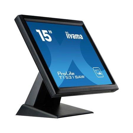 "Iiyama iiyama ProLite T1531SAW-B5 touch screen-monitor 38,1 cm (15"") 1024 x 768 Pixels Zwart Single-touch"