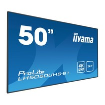 50i WIDE LCD. 3840 x 2160. 4K UHD AMVA3panel. DP. HDMI 3x. Component Video. 450 cd/m. 4000:1 Static Contrast. HDR. 8 ms. Media Play USB Port.