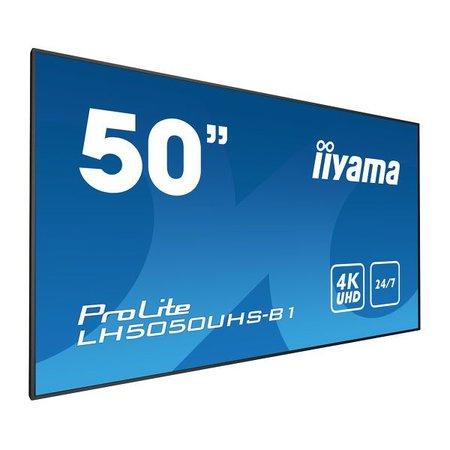 """Iiyama iiyama LH5050UHS-B1 beeldkrant 127 cm (50"""") LED 4K Ultra HD Videomuur Zwart"""