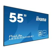 55i WIDE LCD. 3840 x 2160. 4K UHD AMVA3panel. VGA. DVI-D. HDMI 2x. 350 cd/m. 4000:1 Static Contrast. 8 ms. Landscape mode. Media Play USB Port.